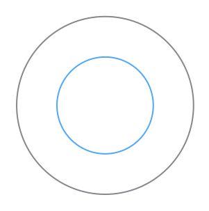 circunferencia concéntrica