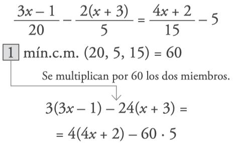 pasos para resolver ecuaciones de primer grado