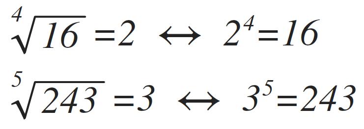 raíces con indice n