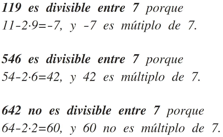 criterio de divisibilidad del 7