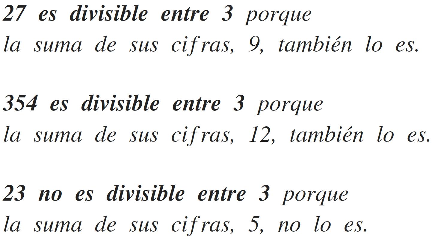 criterio de divisibilidad del 3