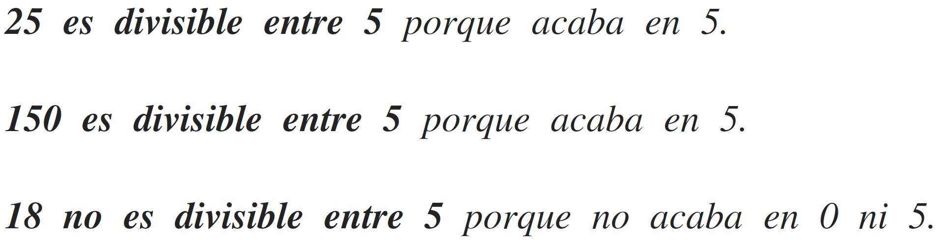 criterios de divisibilidad del 5