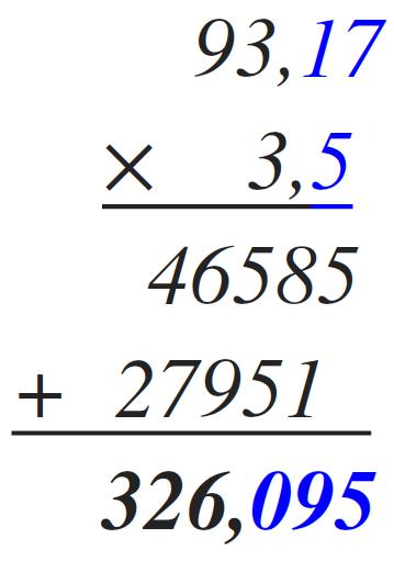 multiplicar decimales