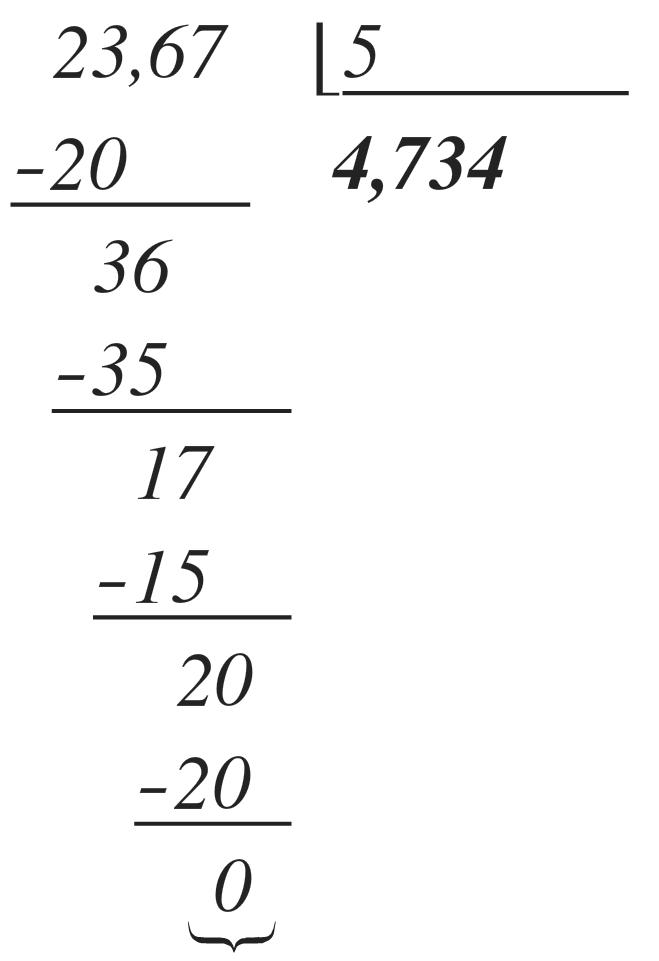 ejemplo de división con decimales