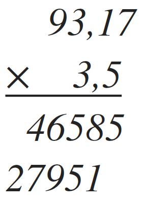 como multiplicar decimales