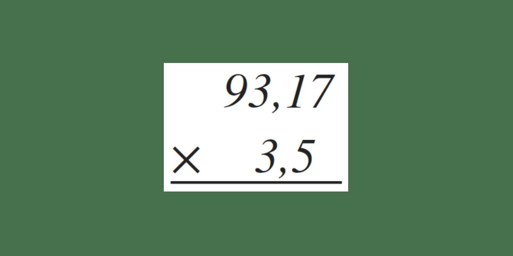 multiplicación decimales