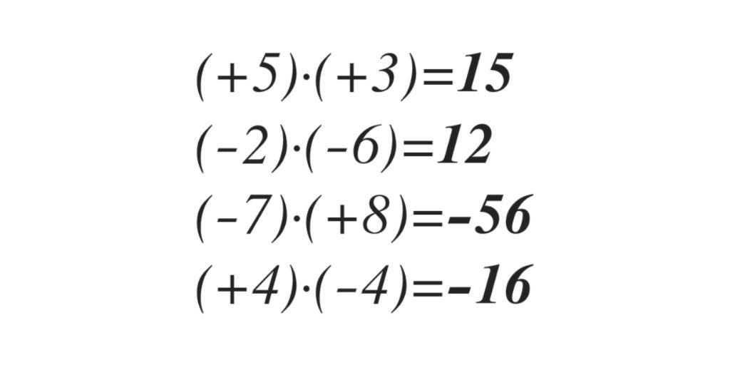 Multiplicación De Números Enteros Ejemplos Aulaprende