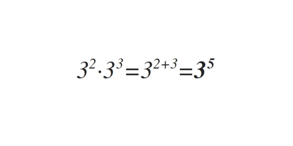 multiplicación de potencias