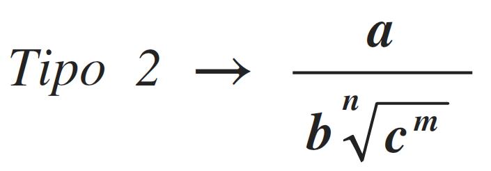 racionalización de tipo 2