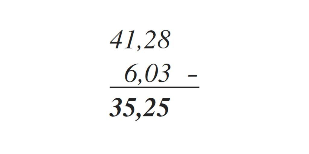 resta de decimales