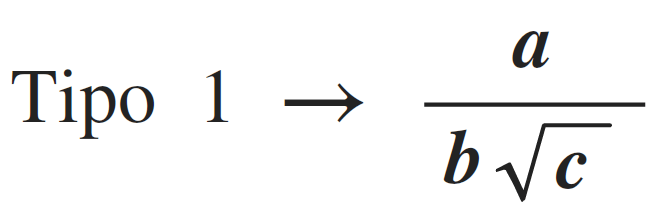 racionalización de tipo 1